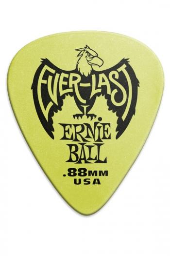 Ernie Ball Everlast Guitar Picks - Green .88mm (12 Pack)