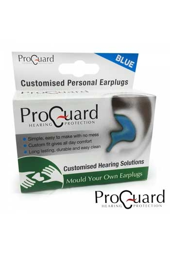 ProGuard Hearing Protectors: Mould Your Own Ear Plugs: Blue B180BLU