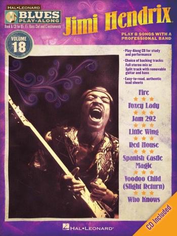 Blues Play Along Series: Vol 18: Jimi Hendrix Book & CD