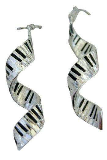 Spiral Keyboard Earrings