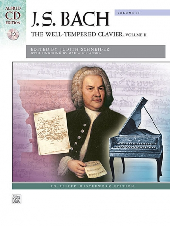 Well-Tempered Clavier Vol.2: Book & Cd: Piano (Alfred)