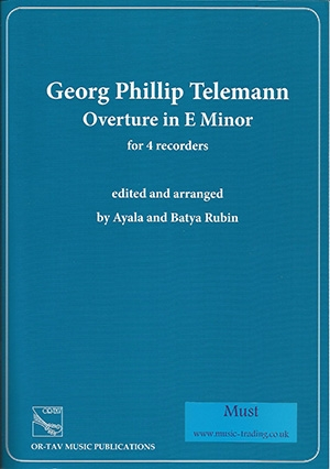 Overture In E Minor For 4 Recorders