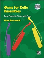 Gems For Cello Ensembles: Book & Cd (Butterworth)