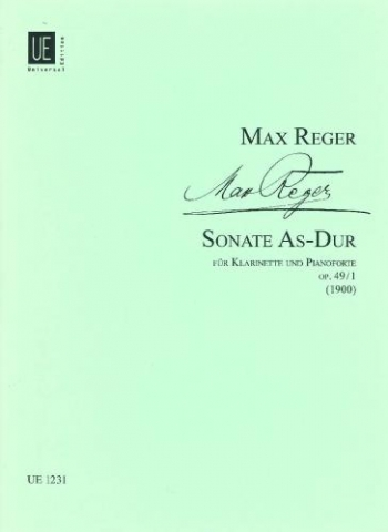 Reger: Sonata: Ab Minor: Op49: No 1: Clarinet & Piano (Universal)