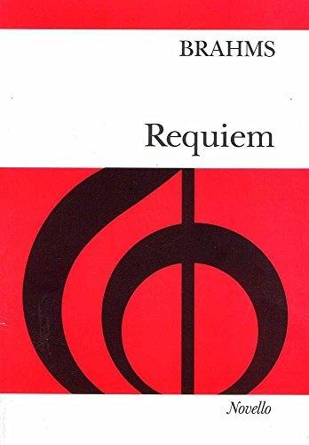 German Requiem: Ein Deutsches Requiem: English & German: Vocal Score Ed J West (Novello)