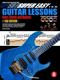 Super Easy: Guitar Lessons Notes Chords And Rhythms: Book & 2 Dvds And CD
