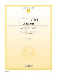 2 Scherzi (Scherzo): Bb Major And Db Major Piano Solo (Schott)