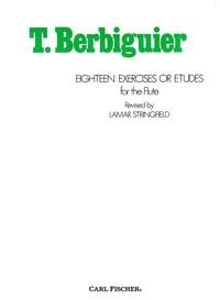 18 Exercises Or Etudes For The Flute (Carl Fischer)