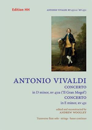 Two Flute Concertos: D Minor 'Il Gran Mogol' RV431a And RV431  FLute & Piano (HH)