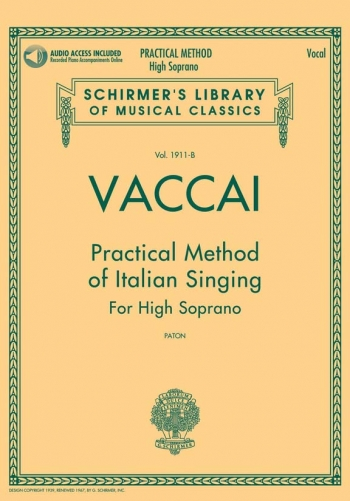 Practical Method Of Italian Singing: High Soprano Book & Cd (Schirmer)