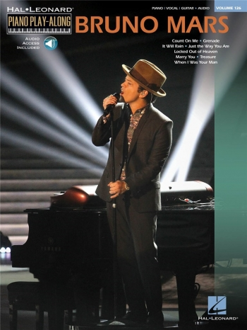 Piano Play-Along Volume 126: Bruno Mars : Bk & CD