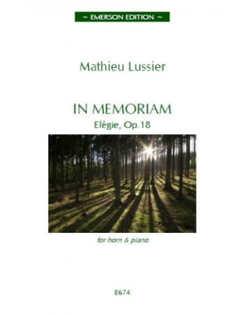 In Memoriam: Elegie Op18: Horn & Piano