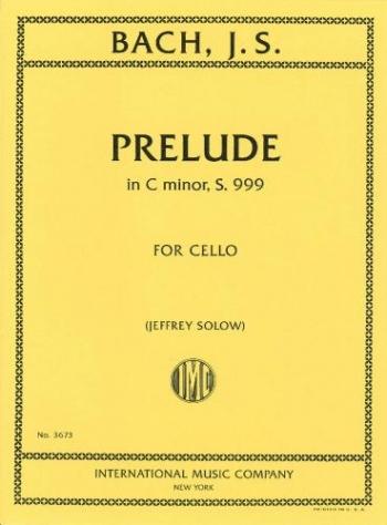 Prelude C Minor BWV999 : Cello Solo (International)