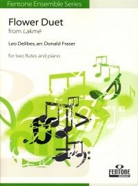 Flower Duet: 2 Flutes & Piano Arr Fraser (Fentone)