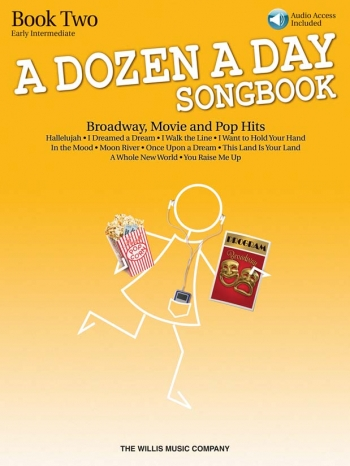 A Dozen A Day Songbook Book 2: Broadway, Movie And Pop Hits: Book & Cd
