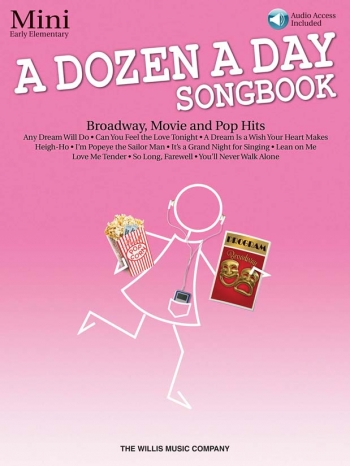 A Dozen A Day Songbook Mini: Broadway, Movie And Pop Hits: Book & Cd