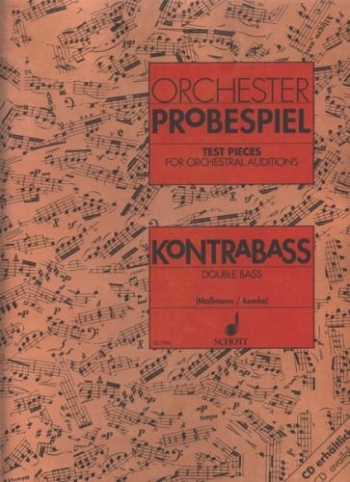 Test Pieces For Orchestral Auditions Double Bass  (Orchestra Probespiel)