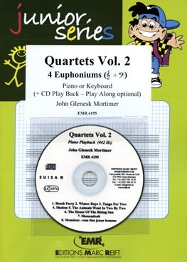 Quartets Volume 2: 4 Euphoniums (Treble Clef) With CD