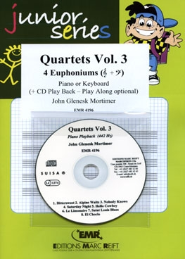 Quartets Volume 3: 4 Euphoniums (Treble Clef) With CD