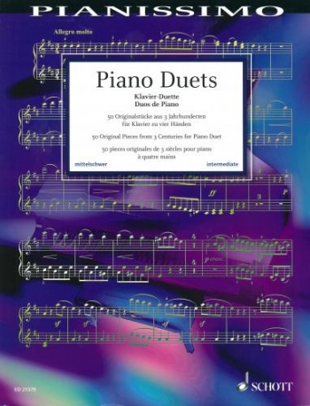 Pianissimo: Piano Duets: 50 Original Pieces From 3 Centuries (Schott)
