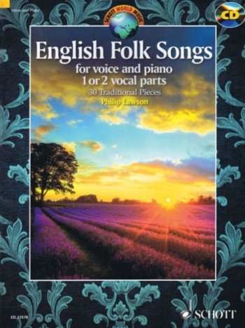 English Folk Songs: Voice & Piano (One Or Two Parts) (Lawson)