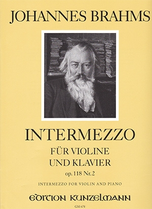 Intermezzo Op118 No.2: Violin & Piano (Peters)