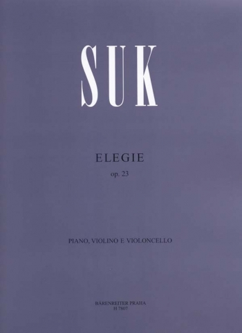 Elegie: Op.23: Violin Cello And Piano (Barenreiter)
