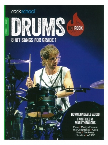 Rockschool: Hot Rock Drums - Grade 1 (Book/Download Card)
