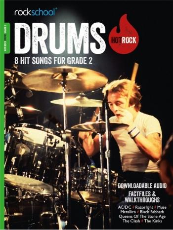 Rockschool: Hot Rock Drums - Grade 2 (Book/Download Card)