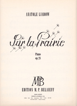 Sur La Prairie Op. 23: Piano