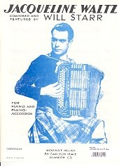 Jacquelin Waltz Arranged For Piano Solo. Or Accordion (Will Starr's)