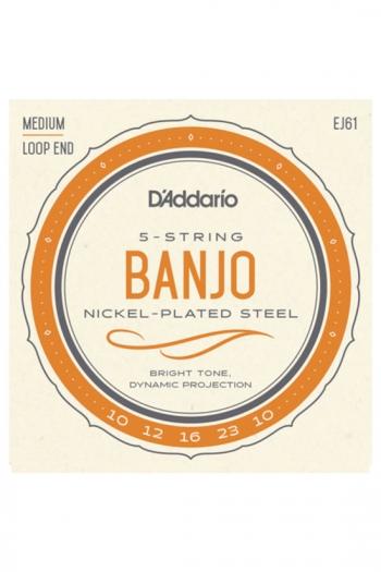 D'Addario 5-String Banjo Medium Strings EJ61