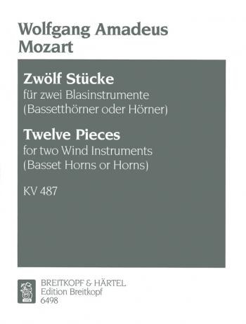 Horn Duos: Zwölf Stücke KV 487 (496a) (Breitkopf)