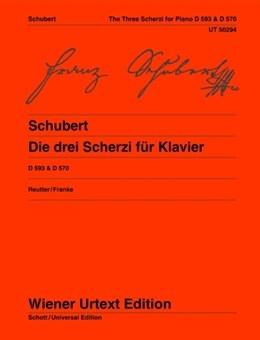 The Three Scherzi (Scherzo): Bb Major And Db Major Piano Solo D593 & D570 (Wiener Urtext)
