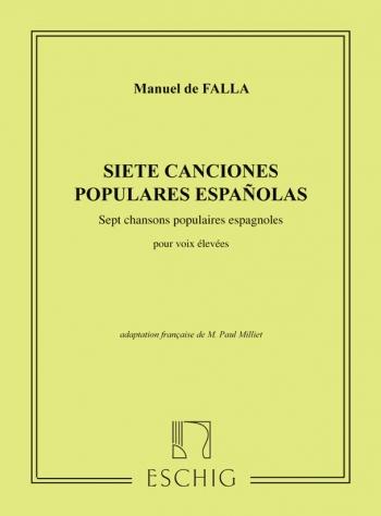 7 Chansons Populaires Espagnoles High Voice & Piano