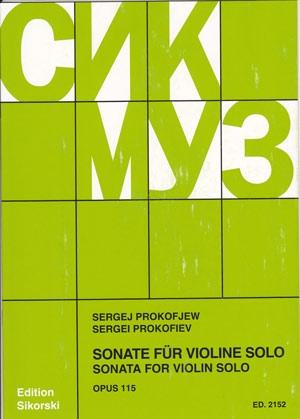 Sonata For Violin Solo Op. 115