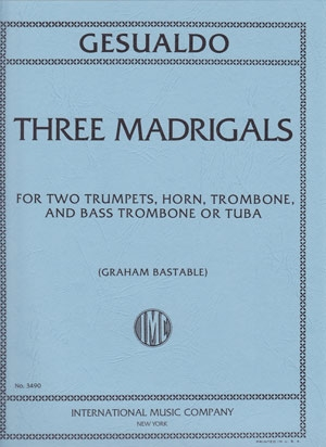 Three Madrigals: Brass Ensemble: Score And Parts