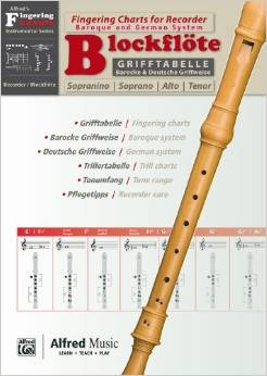 Fingering Chart: Descant Or Treble  (Alfred/Grifftabelle)