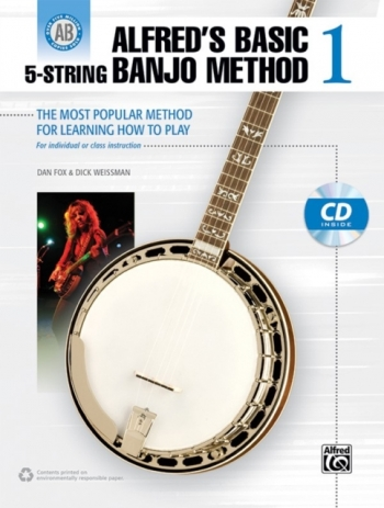 Alfred's Basic 5 String Banjo Method Book 1 Book & Cd