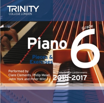 Trinity College London Piano Examination Pieces & Exercises Piano Grade 6 CD Only