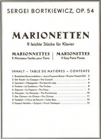 Marionettes, Op. 54: Piano Solo (Simrock)