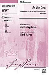 As The Deer SAB  (Johann Sebastian Bach / Mark Hayes / Martin Nystrom)