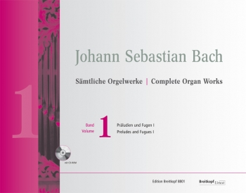 Complete Organ Works Vol.1 Preludes & Fugues Book & Cd (Breitkopf)