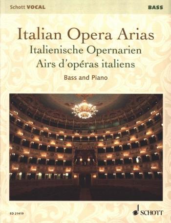 Italian Opera Arias: Bass & Piano (Schott)