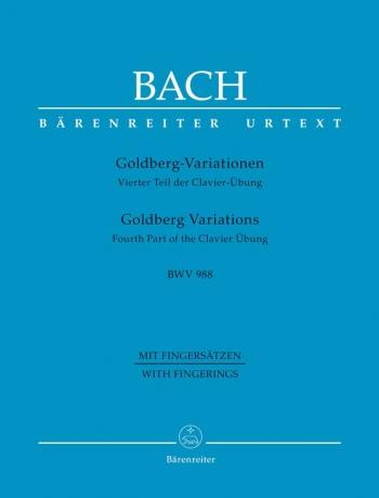 Goldberg Variations BWV988 : Piano (Barenreiter)