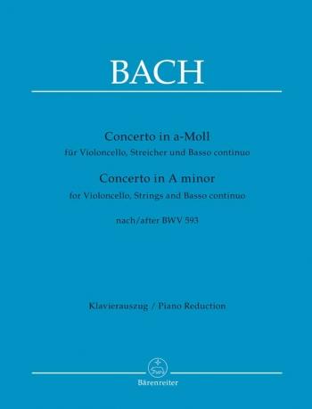 Concerto: A Minor After BWV593: Cello & Piano  (Barenreiter)