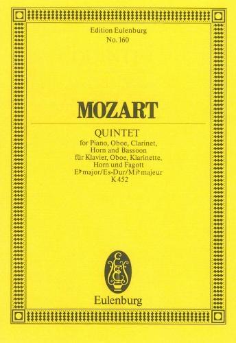 Quintet: Eb Maj: K452: Miniature Score