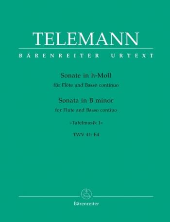 Sonata B Minor No. 1 WV 41:h4 (Barenreiter) Flute & Piano (Barenreiter)