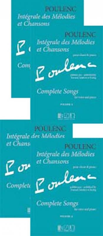 Integrale Des Melodies Et Chansons: 4 Volume Set: Vocal & Piano