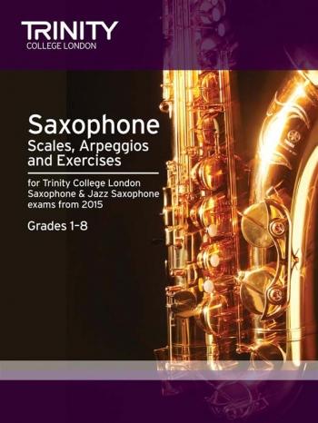 Trinity Saxophone & Jazz Saxophone Scales Arpeggios & Exercises Grades 1-8 From 2015
